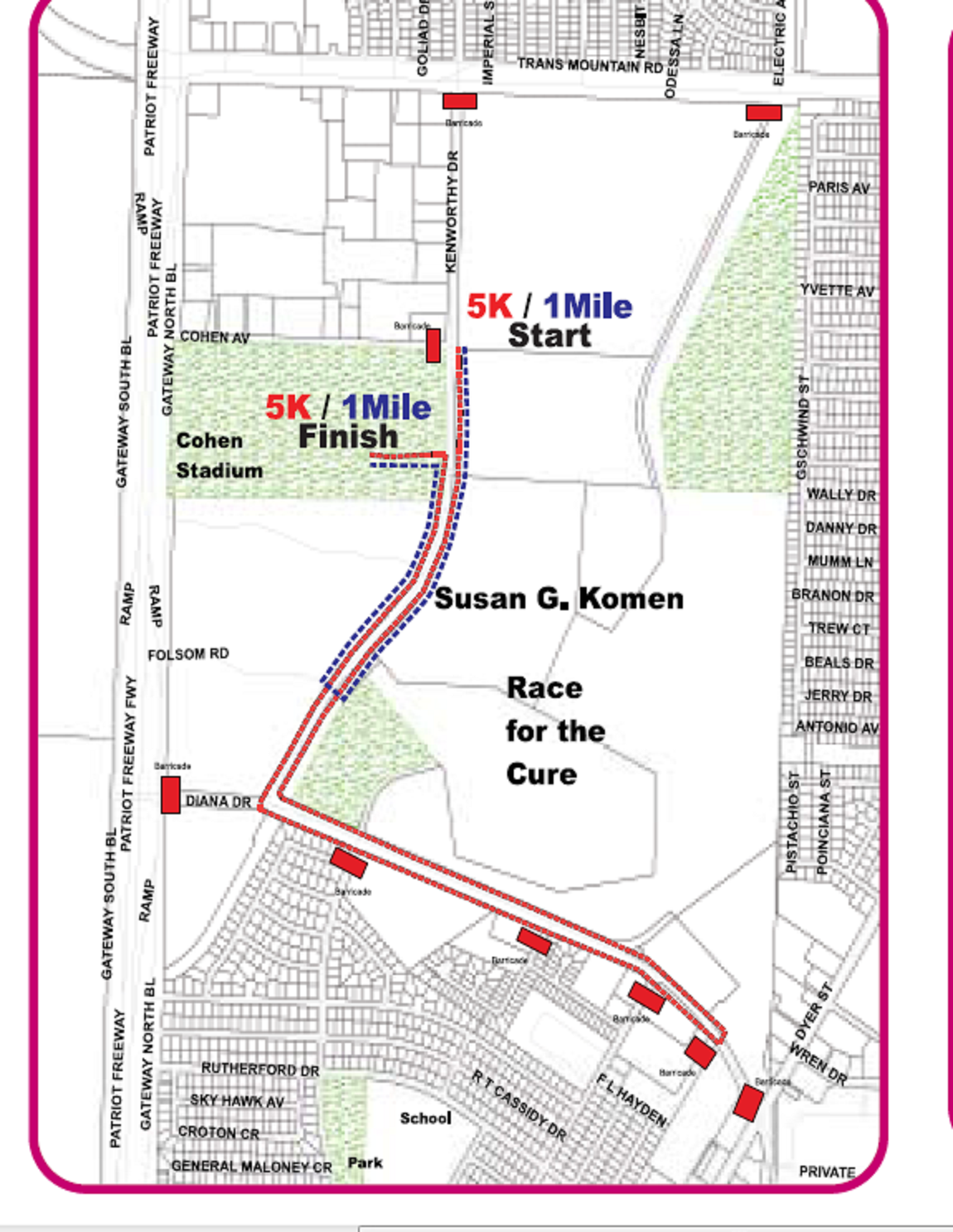 Susan G Komen El Paso Maps Parking